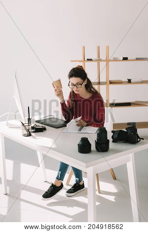 Photographer Working With Graphics Tablet