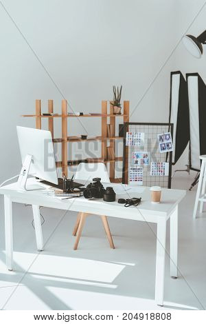 Modern Office With Photography Equipment