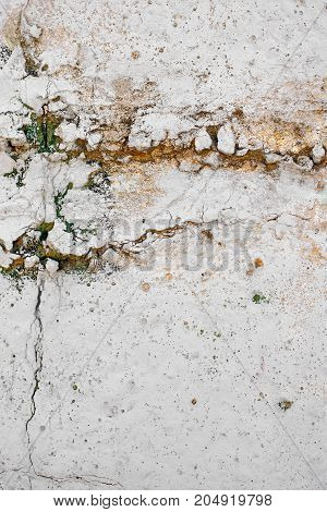 Texture Of Vintage Rusty Gray Iron Wall Background With Many Layers Of Paint And Rust