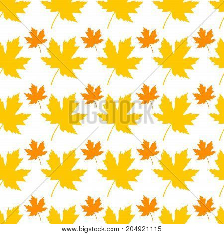 Seamless pattern with leaves. Background for your design.Vector illustration.
