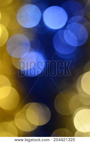 blur colored spots yellow and blue  for background or texture
