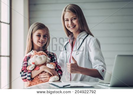 Little Girl With Pediatrician