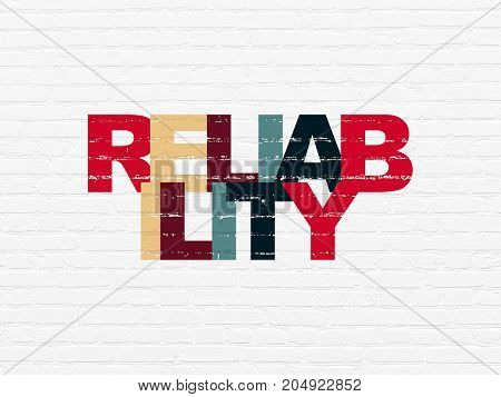 Finance concept: Painted multicolor text Reliability on White Brick wall background