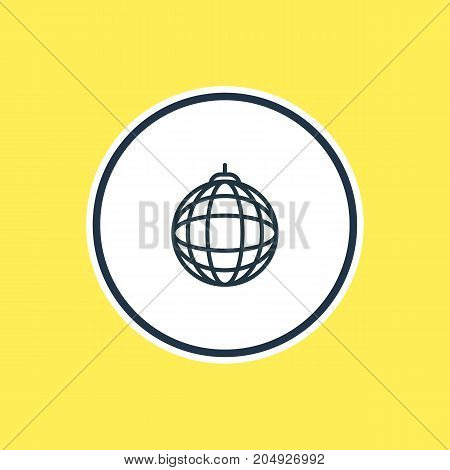 Beautiful Party Element Also Can Be Used As Nightclub Ball Element.  Vector Illustration Of Disco Sphere Outline.