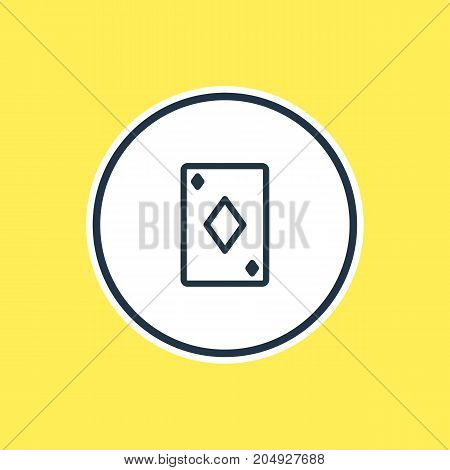 Beautiful Leisure Element Also Can Be Used As Poker Element.  Vector Illustration Of Playing Card Outline.