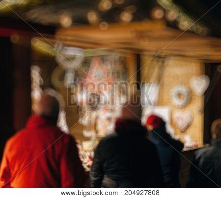 Customers Admiring Christmas Decorations