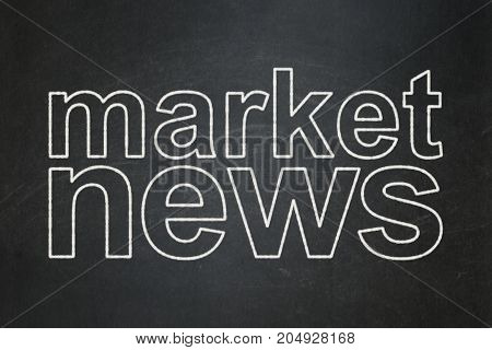 News concept: text Market News on Black chalkboard background
