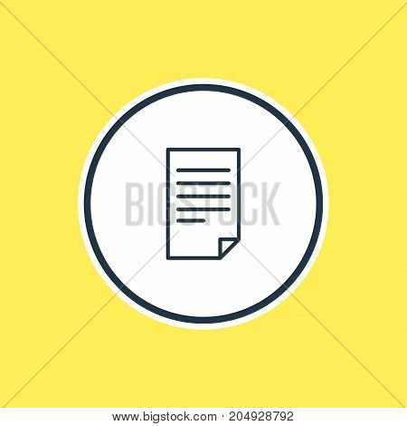 Beautiful Science Element Also Can Be Used As Paper  Element.  Vector Illustration Of Document Outline.