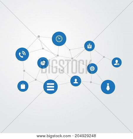 Elements List, Planet, Member And Other Synonyms Menu, World And List.  Vector Illustration Set Of Simple Conference Icons.