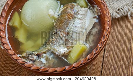 Fish Soup With Whitefish. Close Up