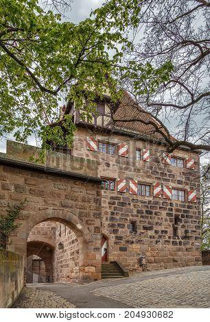 Burgamtmannshaus is one of the historical buildings in Nuremberg Castle Nuremberg Germany
