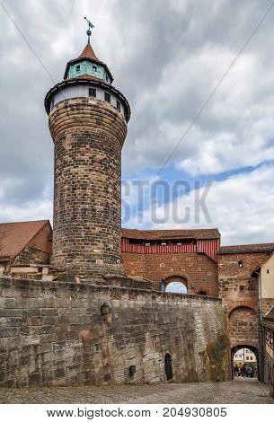 Sinwell Tower (Sinwellturm) in Nuremberg castle Germany