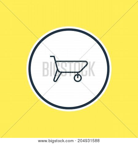 Beautiful Industry Element Also Can Be Used As Handcart Element.  Vector Illustration Of Carrier Outline.