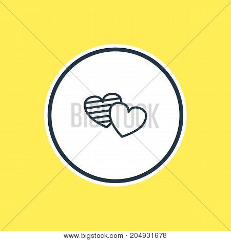 Beautiful Party Element Also Can Be Used As Soul Element.  Vector Illustration Of Heart Outline.