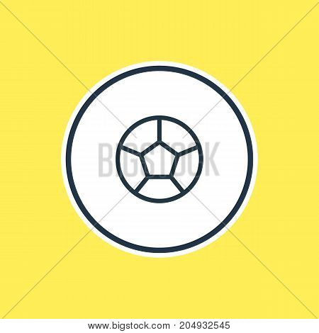 Beautiful Leisure Element Also Can Be Used As Soccer Element.  Vector Illustration Of Football Outline.