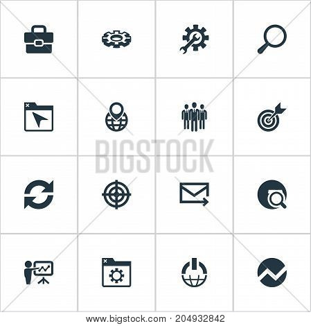 Elements Detail, Option, Browser And Other Synonyms Presentation, Folder And Navigation.  Vector Illustration Set Of Simple Review Icons.
