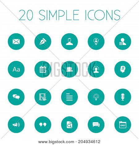 Elements Connection, Comma, Innovation And Other Synonyms Camera, Announcement And Innovation.  Vector Illustration Set Of Simple Newspaper Icons.