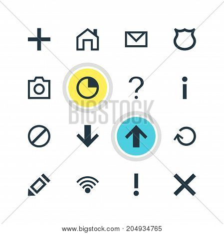 Editable Pack Of Snapshot, Letter, Access Denied And Other Elements.  Vector Illustration Of 16 User Icons.