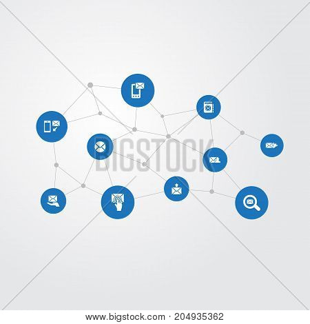 Elements Messaging, Specter, Notice And Other Synonyms Message, Hot And Burn.  Vector Illustration Set Of Simple Mail Icons.
