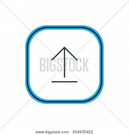 Beautiful Bureau Element Also Can Be Used As Install Element.  Vector Illustration Of Upload Outline.
