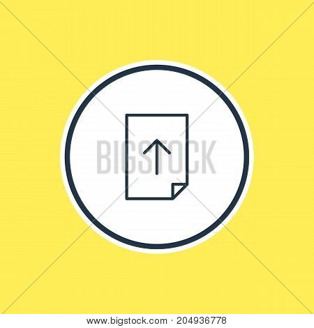 Download  Element.  Vector Illustration Of Upload Outline.