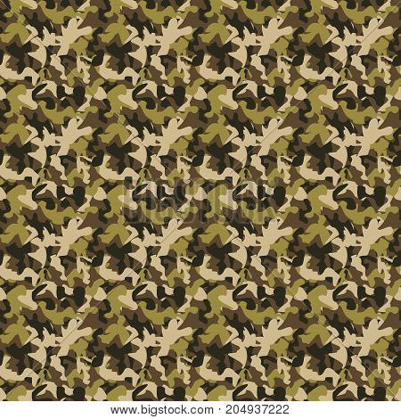 Vector camouflage pattern. Vector background of soldier grey. Camouflage pattern background. Classic clothing style masking camo repeat print.