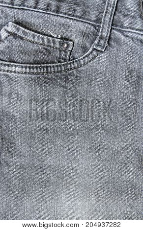 closeup pocket on jeans texture and background