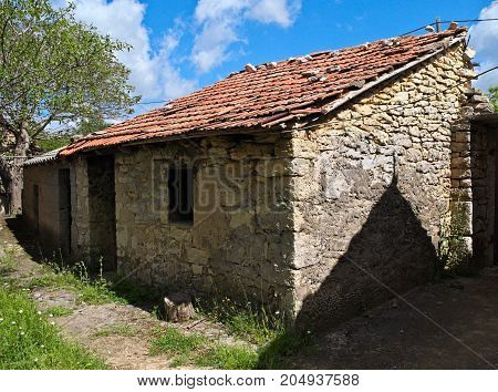 Mediterranean style small cottage, built from stone