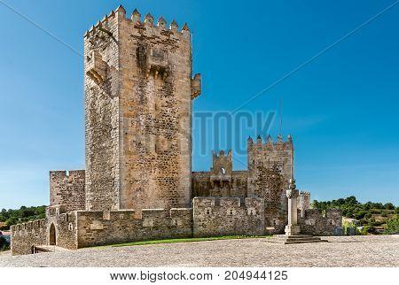 Sabugal Medieva Castle in Portugal. Portuguese Pelurinho