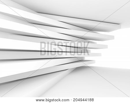 Abstract Empty Interior Background. White Room