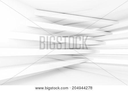 Abstract Stripe Beams, 3D Render Illustration