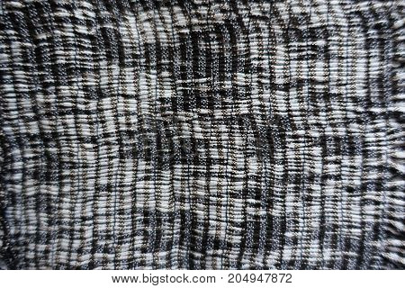 Vertical Rows Of Gathers (shirring) On Grey Fabric