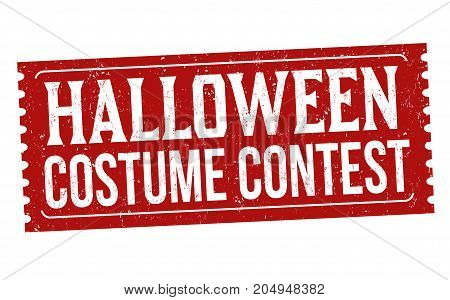 Halloween Costume Contest  Sign Or Stamp