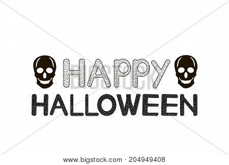 Halloween creative background . Vector illustration .