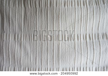 Ivory Fabric With Embossed Stripes From Above