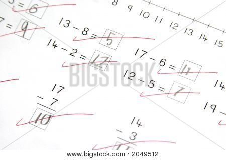 Math Test, Elementary School