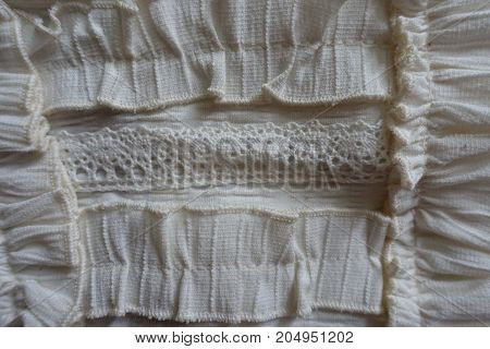 Lace And Frills Used For Decoration Of Clothing
