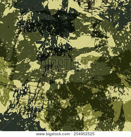Abstract Military Camouflage Background Made of Splash. Camo Pattern for Army Clothing. Vector.