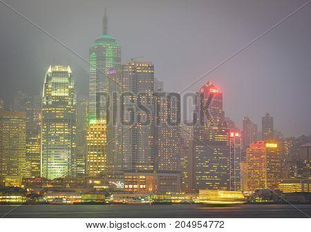 Cityscape Of Hong Kong, China