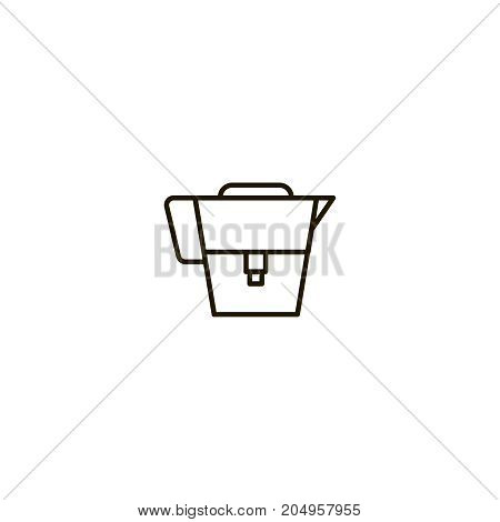 Water filter flat icon. Single high quality symbol of line filter vector for web design or mobile app. Color sign of container for design logo. Single pictogram on white background