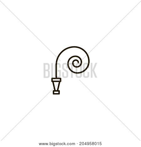 Fire hose flat icon. Single high quality symbol of line hose vector for web design or mobile app. Color sign of water for design logo. Single pictogram on white background