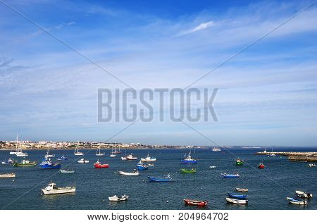 View on the marina in Cascais. Cascais is a popular summer vacation spot for Portuguese and foreign tourists