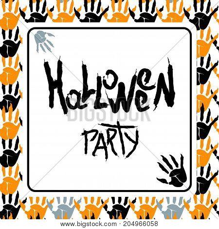 Happy Halloween White Poster