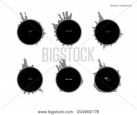 Futuristic Collection Of Conceptual Black And White Infographics