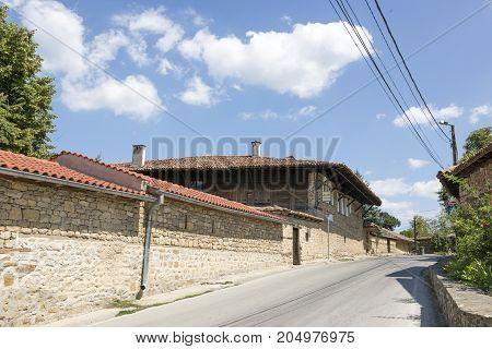ARBANASI, BULGARIA - AUGUST 10, 2017:Street in the village of Arbanasi (Veliko Tarnovo) Bulgaria.