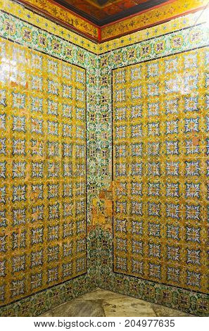 Glazed Tiles Of Dar Lasram Palace