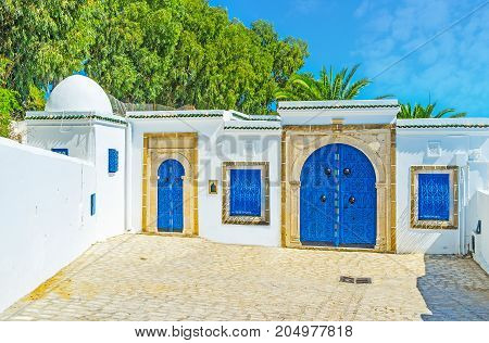The Gate Of Old Mansion In Sidi Bou Said