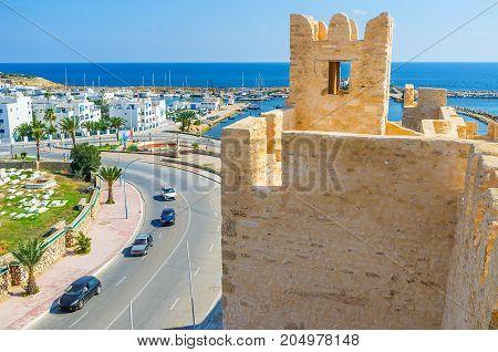The Towers Of Ribat In Monastir