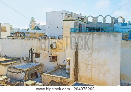 On Roof Of Old Tunis Mansion