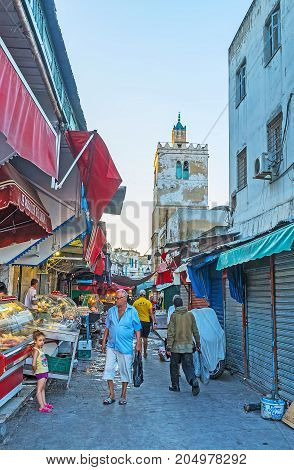 The Food Market In Old Tunis